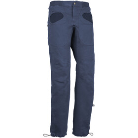E9 Rondo Slim Trousers Men, blue navy